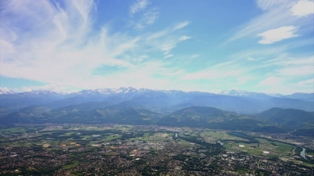 Cloudscape time lapse video, Isere valley, France video