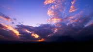 cloudscape timelapse evening sky video