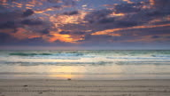 HD TIME LAPSE: Cloudscape With Sunrise On Florida Beach video