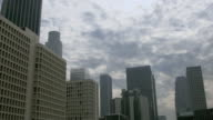 Cloudy Day Over Los Angeles Skyline video