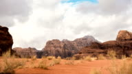 Cloudy day time lapse in Wadi Rum video