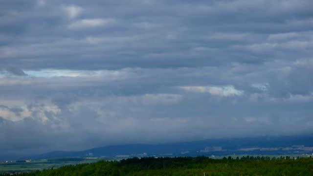 Cloudy landscape timelapse video