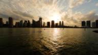 Cloudy Miami evening video