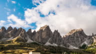 Cloudy over Mountains Dolomite italy ,time lapse video