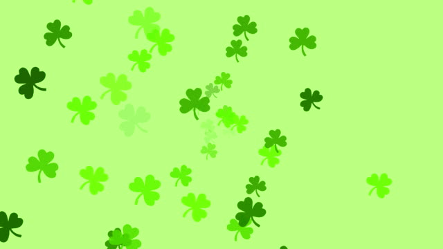 Clovers continuously shoot towards the screen (High Definition 1080p) video