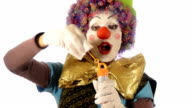 clown and soap bubbles video