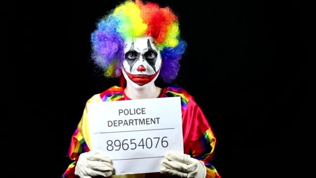 Clown Getting Mugshot Taken video