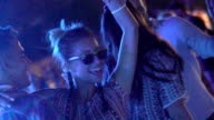 Clubbing in slow motion. video