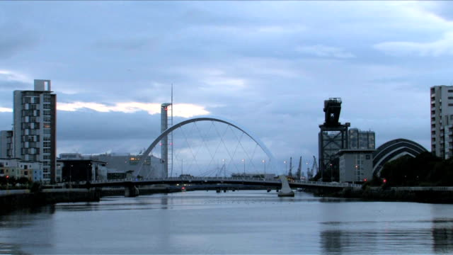 Clyde Arc Bridge in Glasgow, Scotland video
