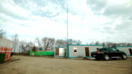 Coach houses of drilling crew in Russia video