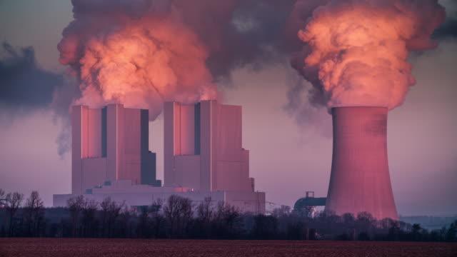 Coal burning Power Plant video