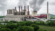 AERIAL: Coal burning power plant video
