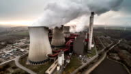 AERIAL: Coal fired power plant video