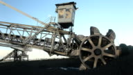 Coal Mine Bucket Wheel loader video