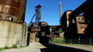 Coal Mine Tower At Old Metallurgical Plant video