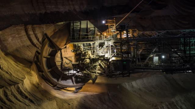 Coal Mining at Night video