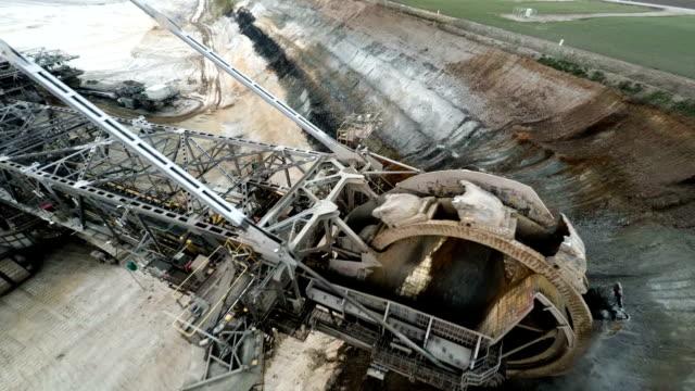 AERIAL : Coal Mining Excavator video