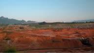 Coal mining . time lapse video