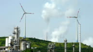 Coal Power Plant and Wind Turbines video