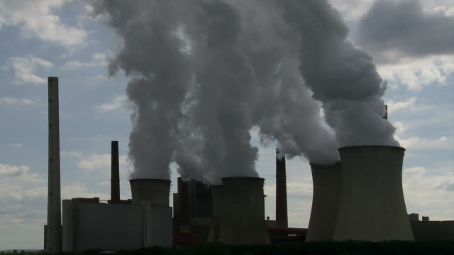 Coal Power Plant Emissions Time Lapse video