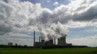 Coal Power Plant in the Backlight Time Lapse video