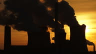 HD Coal Power Plant in the Backlight video