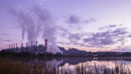 Coal power plant in the morning,Time-lapse video