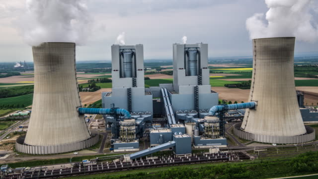 AERIAL: Coal Power Station video
