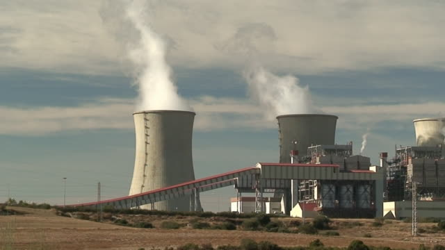 Coal-burning power plant video