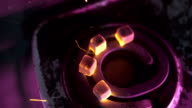 Coals for hookah caught fire on a stove video