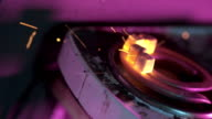 Coals for hookah light up on stove video
