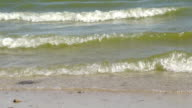 CoasCoastal Azov Sea waves video