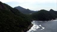 Coast and Mountains - Aerial View - Rio de Janeiro,Angra dos Reis,Brazil video