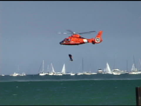 Coast Guard Pulls up Drowning Victim video