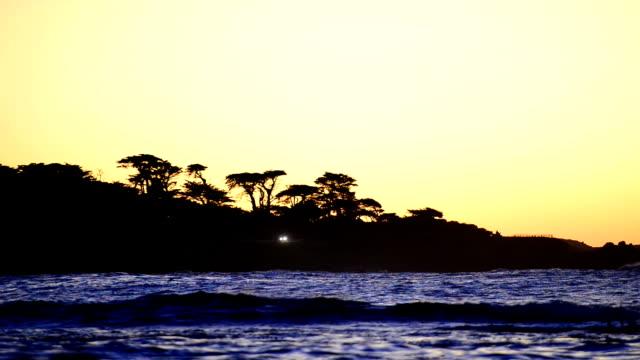 Coast landscape at sunset video
