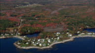 Coast Near Fortunes Rocks  - Aerial View - Maine,  York County,  United States video