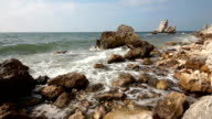 coast of black sea in crimea tarhan qut video