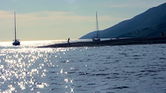 HD: Coast Scene At Sunset video