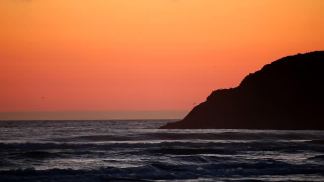 HD coast sunset video