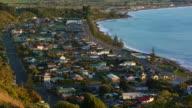 Coastal village aerial video
