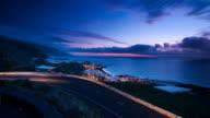 Coastline after sunset video