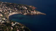 Coastline And Sanary-Sur-Mer  - Aerial View - Provence-Alpes-Côte d'Azur, France video
