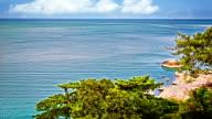 Coastline and wide ocean video