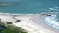 Coastline In Agulhas National Park  - Aerial View - Western Cape,  South Africa video