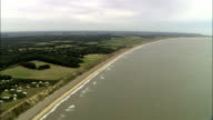 Coastline South Of Southwold  - Aerial View - England, Suffolk, Suffolk Coastal District, United Kingdom video