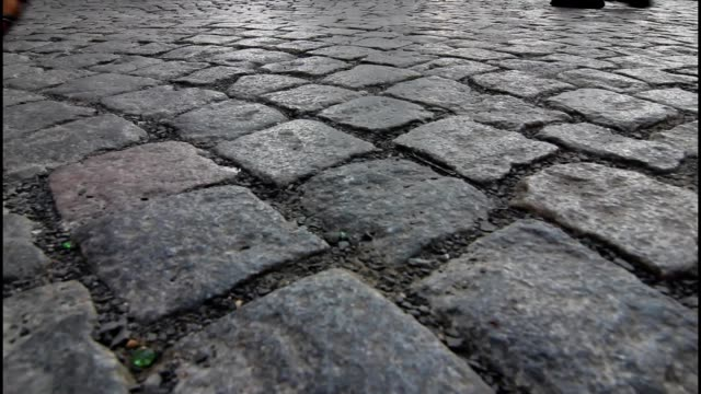 Cobbled street, background video