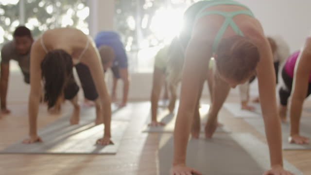 Cobra Position in Yoga Class video