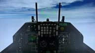 F-15 Cockpit Above the Clouds Illustration video