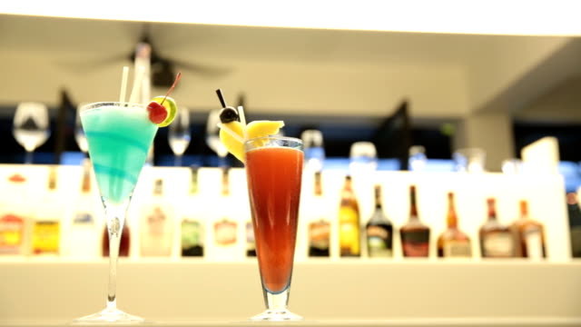 Cocktail on a bar video
