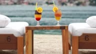 Cocktails at the beach video